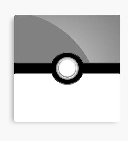 Poke´ Ball - Gray Canvas Print