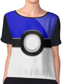 Poke´ Ball - Blue Chiffon Top