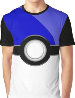 Poke´ Ball - Blue Graphic T-Shirt