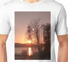 Sunset and trees Unisex T-Shirt