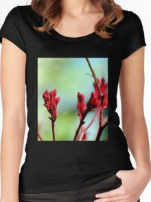 Red bloom Women's Fitted Scoop T-Shirt