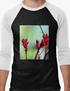 Red bloom Men's Baseball ¾ T-Shirt