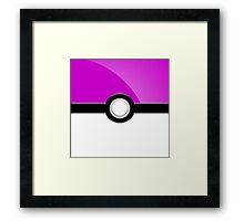 Poke´ Ball - Light Purple Framed Print