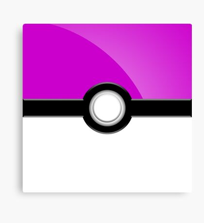 Poke´ Ball - Light Purple Canvas Print