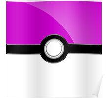 Poke´ Ball - Light Purple Poster