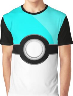 Poke´ Ball - Aqua Graphic T-Shirt