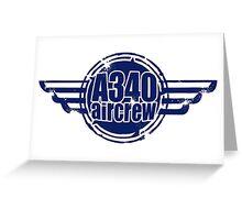 A340 Aircrew Greeting Card