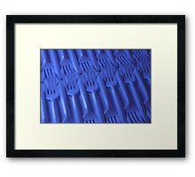 Plastic fork blues- ISO 100 Framed Print