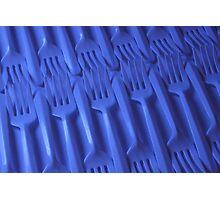 Plastic fork blues- ISO 100 Photographic Print
