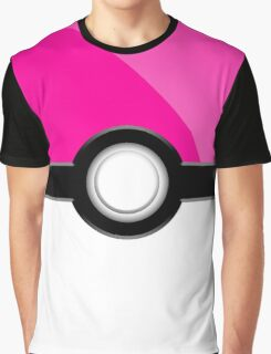 Poke´ Ball - Pink Graphic T-Shirt