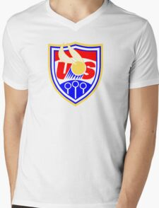 US Quidditch - World Cup 2014 Mens V-Neck T-Shirt