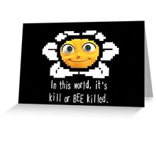 Undertale X Barry Bee Greeting Card