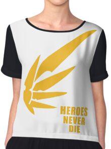 Heroes never die half Chiffon Top