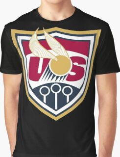 United States of America Quidditch Logo Large Graphic T-Shirt
