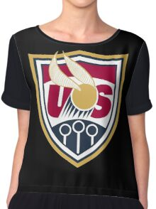 United States of America Quidditch Logo Large Chiffon Top