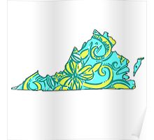tri delta lilly print virginia Poster