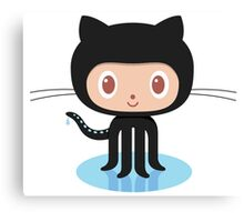 Github Social Coding Stickers Canvas Print