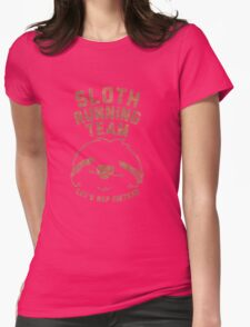 Sloth Running Team Let's Nap Instead Womens Fitted T-Shirt