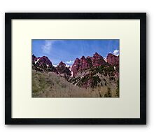 The red in Maroon Bells Framed Print