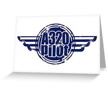 A320 Pilot Greeting Card