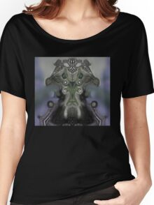 Mona Lisa Masg, Upside-Down Art  Women's Relaxed Fit T-Shirt