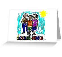 Funny Colored People Drawing Greeting Card
