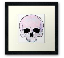 Pastel Skull Framed Print