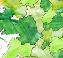 Watercolor Map - Ireland Sticker