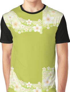 Plumeria Wave green Graphic T-Shirt