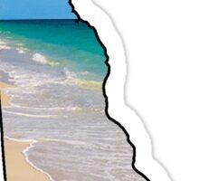 Delaware Beach Sticker