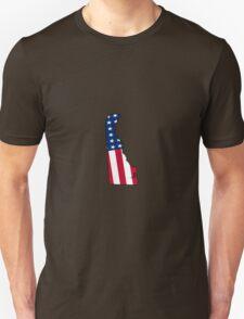 Delaware American Flag Unisex T-Shirt