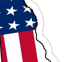 Delaware American Flag Sticker
