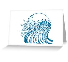 Cool wave Greeting Card