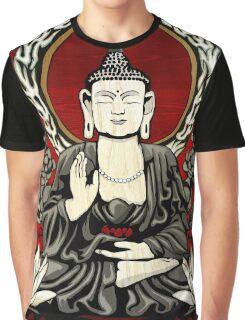 Gautama Budda Colour Crop Graphic T-Shirt