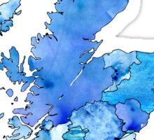 Watercolor Map - Scotland Sticker