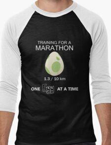 Training for a Marathon! (Pokemon Go!) Men's Baseball ¾ T-Shirt