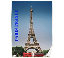 Paris France Eiffel Tower  Poster