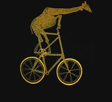Giraffe on Bicycle Womens Fitted T-Shirt