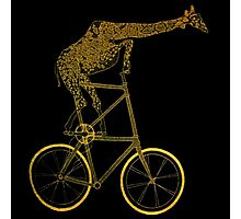 Giraffe on Bicycle Photographic Print