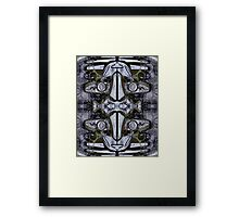 Steel Heart, Double Masg by Upside-Down artist L. R. Emerson II Framed Print