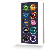 Spinning Senshi (all scouts) Greeting Card