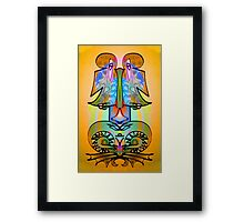 "Side by Side, ""Upsidedownism"" Ambigram Art by L. R. Emerson II Framed Print"