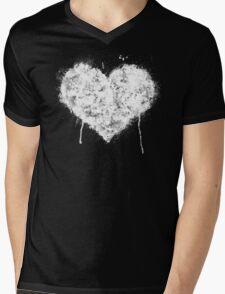 Grunge Heart - White Mens V-Neck T-Shirt