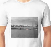 London skyline and red bus Unisex T-Shirt
