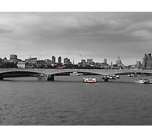 London skyline and red bus Photographic Print