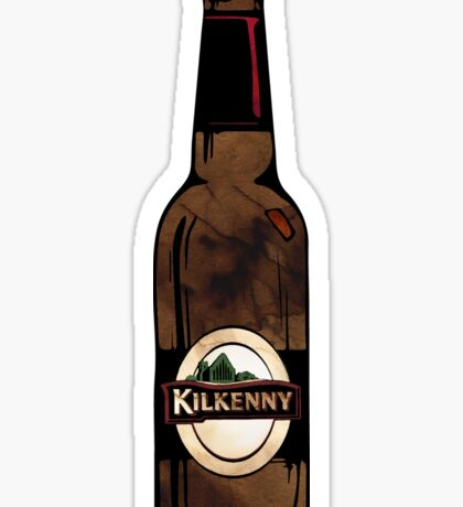 Watercolor Kilkenny Irish Cream  Beer Sticker