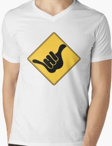 SHAKA HI Mens V-Neck T-Shirt