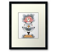 Pink Haired Ouija Girl Framed Print