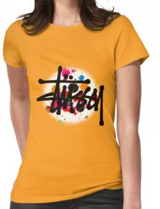 STUSSY - logo brush #MP Womens Fitted T-Shirt