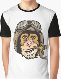 Flying Monkey Cigar Graphic T-Shirt